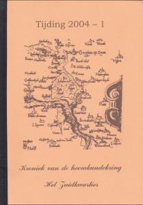 Knipsel kaft Tijding 2004-1