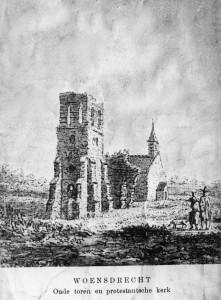 Stompe toren met Protestantse kerk 1618 - 1809
